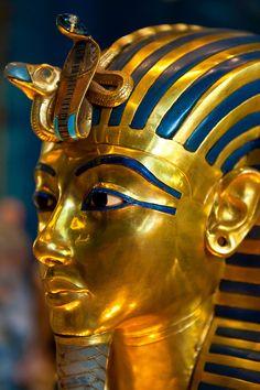 ♔ Gold Mask of of King Tut ~ Egyptian Museum ~ Cairo ~ Egypt