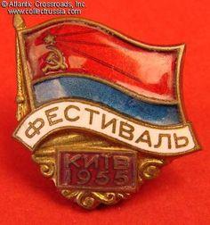 Collect Russia Ukrainian Youth Festival, Kiev, 1955. Soviet Russian