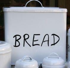 White Enamel Bread bin – high x x Bread Bin, White Enamel, Decorative Accessories, Bathroom, Kitchen, Home Decor, Washroom, Cooking, Decoration Home