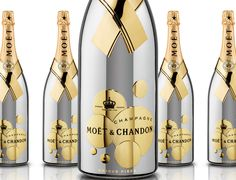 Moët & Chandon gold plated 'So Bubbly' Brut Impérial champagne