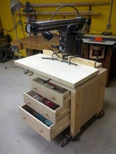 Radial Arm Saw Cabinet Stand and Molding Shaper Fence