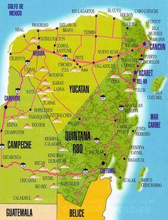 merida yucatan mapa - Buscar con Google