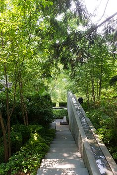 An elegant, contemporary raised water rill. Pinned to Garden Design - Water Features by Darin Bradbury.