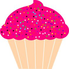 Cupcake With Pink Frosting And Sprinkles Clip Art lots of from files here