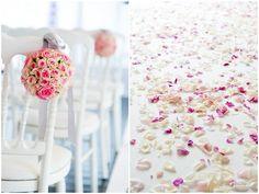 Pink / purple wedding flower details - © Fred Marigaux Photos