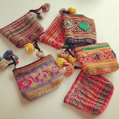 """Sweetest little vintage fabric coin purses just arrived!"""