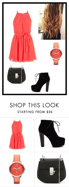 """""""Untitled #68"""" by gizelaa ❤ liked on Polyvore featuring maurices, FOSSIL and Chloé"""