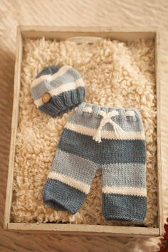 Newborn knit pant and hat set baby knit boy pant and hat made by pup and frank,newborn photography props on Etsy, $53.37 AUD