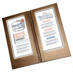 Make your elegant restaurant menu design with these illuminated menu covers. Menu Covers, Restaurant Menu Design, Lorem Ipsum, Presentation, Led, Make It Yourself, Elegant, How To Make, Grief
