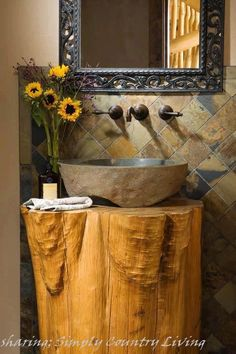 sharing ' Simple Country Living... love this look. original too..