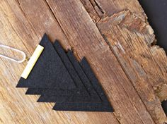 Stacking Black Triangles Statement Pendant by MoreThanPrettyThings, $35.00