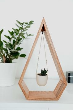 ORIGINAL Trending Hanging Diamond Planter for Succulents, Air Plants, Diamond Shelf, Wood Shelf – ***Pot is sold out!*** Trending Hanging Diamond Planter Wood for Succulents and Air Wood Projects, Woodworking Projects, Woodworking Bench, Sketchup Woodworking, Woodworking Supplies, Popular Woodworking, Welding Projects, Furniture Projects, Deco Cactus