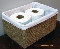 karton kutudan çamaşır sepeti