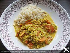 Lauch - Karotten - Gericht nach Thai - Art