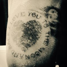 Love you to the moon and back ...ink for the Love of my life... Ink by #artofflick