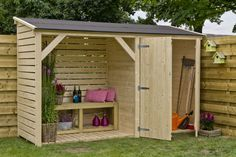 A storage shed can be considered a minor project with basic skills you can build one for yourself if you have the tools needed when building a backyard shed Garden Tool Storage, Shed Storage, Diy Storage, Garden In The Woods, House In The Woods, Block House, Generator Shed, Lean To Shed, Diy Cupboards