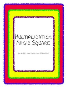 $3.00 - Students put together a 4x4 square so all 24 multiplication facts line up correctly - FUN, yet educational and slightly challenging