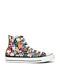 Converse Chuck Taylor All Star Sticker Print Hi Top Trainers