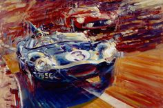 Andrew McGeachy is a native of Scotland who has lived in Switzerland for the past 24 years, his art is known for being emotive and highly effective at capturing the speed and chaos of vintage motor racing. These two canvases show two of the most historically significant racing circuits in the world – Monte Carlo...