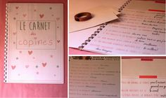 {EVJF} Le carnet des copines! | www.leplusbeaujourdurestedemavie.com J'ai Dit Oui, Organization Bullet Journal, All You Need Is Love, Got Married, Party Time, Bridal Shower, Wedding Day, Marriage, Activities