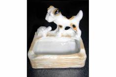 """Ceramic """"Dog and Turtle"""" Ashtray"""