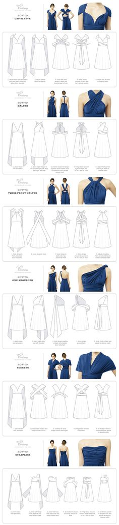 Twist Wrap Dress - How-To-Wear Instructions #multiway #convertible