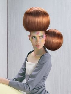 A long brown straight updo quirky avant garde Womens hairstyle by Hooker & Young Straight Updo, Brown Straight Hair, Straight Hairstyles, Crazy Hair, Big Hair, Auburn, Dress Hairstyles, Fantasy Hairstyles, Funny Hairstyles