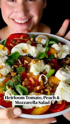 I Love Food, Good Food, Fancy Appetizers, Clean Eating, Healthy Eating, Healthy Salad Recipes, Mediterranean Recipes, Summer Recipes, Food Dishes