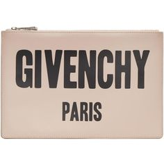 Givenchy Pink Logo Pouch ($585) ❤ liked on Polyvore featuring beauty products, beauty accessories, bags & cases, pink and givenchy