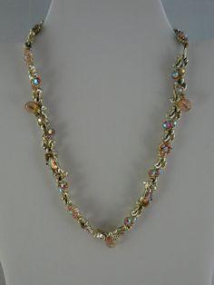 Hollycraft 1959 AB Rhinestone Necklace by JulianosCorner on Etsy, - SOLD
