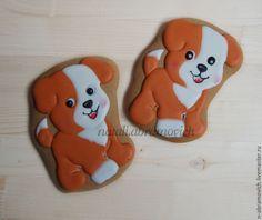 Купить Веселый щенок - имбирное печенье, имбирные пряники, пряники, пряник расписной