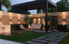 Modern Backyard Design, Modern Exterior House Designs, Design Exterior, Modern Landscape Design, Backyard Patio Designs, Modern Landscaping, Backyard Landscaping, House Landscape, Landscape Edging