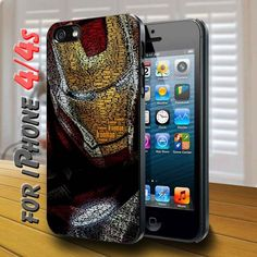 iron man poster - design case for iphone 4,4s | shayutiaccessories - Accessories on ArtFire
