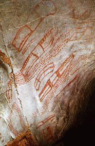 Paleolítico Inferior, Signos puntiforme y tecniforme, Cueva del Castillo, Cantabria, 30000 aC.