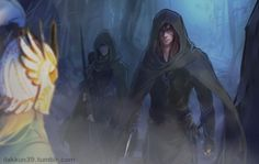 After the War of Wrath, Maedhros and Maglor approach Eönwë's camp for the last two Silmarils. <><> I'M DYING BECAUSE I JUST FOUND THIS ON GOOGLE AND IT'S SO AWESOME.  MAEDHROS LOOKS LIKE SOME SORT OF ASSASSIN (WHICH HE KINDA IS).