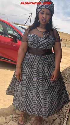 Shweshwe Dresses Fans Group New Year 2019 ⋆ African Dresses For Kids, Latest African Fashion Dresses, African Dresses For Women, African Print Fashion, African Attire, Xhosa Attire, Sepedi Traditional Dresses, Traditional African Clothing, Seshweshwe Dresses