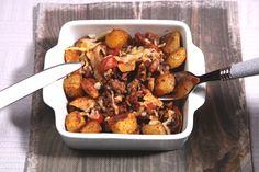 Kruidige gehaktschotel met paprika, champignons en krieltjes - De keuken van Ursie