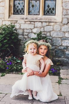 Flower girls at a wedding at St Donat's Castle in Wales. Stephanie Allin, Travel, And Books For A Inspired Literary Adventure! (Weddings ) Allin, Travel, Balloons And Books For A Vintage Inspired Literary Adventure! Daisy Headband, Wedding Headband, Dresses Uk, Flower Girl Dresses, Flower Girls, Wedding Blog, Dream Wedding, Wedding Ideas, Baby Breath Flower Crown