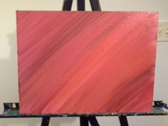 Red Hue Shadow Art, Acrylic Painting on canvas