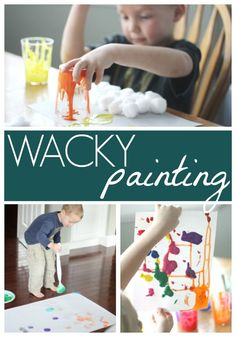Wacky Painting for Kids Inspired by Wacky Wednesday Toddler Approved is a kids activities . Dr Seuss Art, Dr Seuss Crafts, Dr Seuss Week, Dr Suess, Toddler Art, Toddler Crafts, Toddler Activities, Crafts For Kids, Painting For Kids