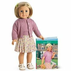 American Girl Kit Kittredge Doll & Paperback Book by American Girl. $156.99. Kit® opens up a whole world of play with authentic styles from 1934, during America's Great Depression:  A lilac sweater set and floral linen skirt  White sandals and white cotton underwear  Shoulder-length blond hair, styled off her forehead with a barrette in a double-diamond shape  Kit's 18-inch doll body is soft cloth; her head and limbs are smooth vinyl. She's posable for hundreds of...