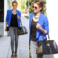"Jessica Alba with the Cobra Society ""Tangiers"" Bag"