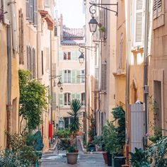Meandering through the narrow cobblestone streets of Le Panier Marseille's charming old town by sliceofpai