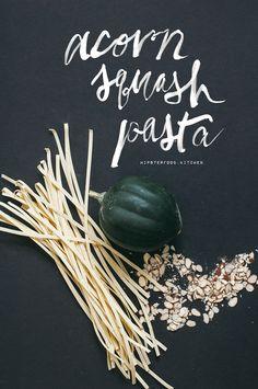 Acorn squash pasta