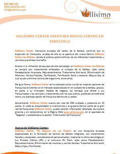 @Vellisimocenter apertura nuevo centro en #Venezuela