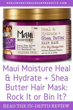 Maui Moisture Heal & Hydrate + Shea Butter Hair Mask- Rock I.- Maui Moisture Heal & Hydrate + Shea Butter Hair Mask- Rock It or Bin It Maui Moisture Heal & Hydrate + Shea Butter Hair Mask- Rock It or Bin It - Maui Hair Products, Maui Moisture, Make Hair Grow, Diy Hair Mask, Makeup Store, Natural Hair Growth, Shea Butter, Hair Care, Moisturizer