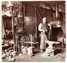 Blacksmith in a foundry, c 1905. Frank Meadow Sutcliffe