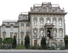 Leland Stanford Mansion - State Historic Site --- The Stanford Mansion is a stunning example of the splendor and elegance of the Victorian era in California.  Originally built in 1856 by Gold Rush merchant Sheldon Fogus, the Mansion was later purchased and remodeled by Leland and Jane Stanford. He served as Governor of California from 1862-1863 and also as president of the Central Pacific RR. Stanford negotiated many deals at the Mansion that helped complete the transcontinental railroad.