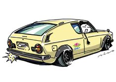 "car illustration ""crazy car art"" jdm japanese old school ""CHERRY"" original characters ""mame mame rock"" / © ozizo ""ROCK'N ROLL"" Line theme ""Crazy Car Art"" Line themes ""Crazy Car Art"" Line stickers ""Crazy car Art"" Telegram stickers"