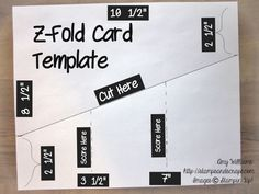 Z-Fold Card Template, Tutorial, stampin up, stamping, card from Amy Williams.